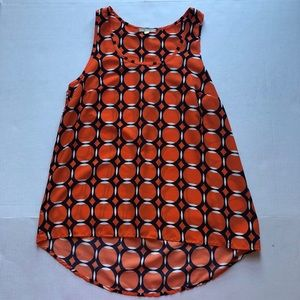 Pleione geometric sleeveless blouse